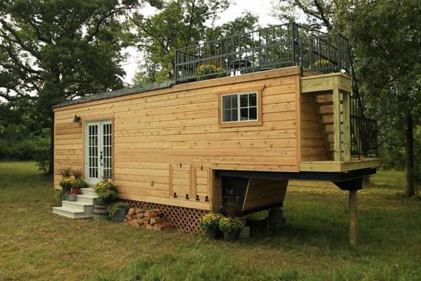 tiny house gooseneck trailer setup