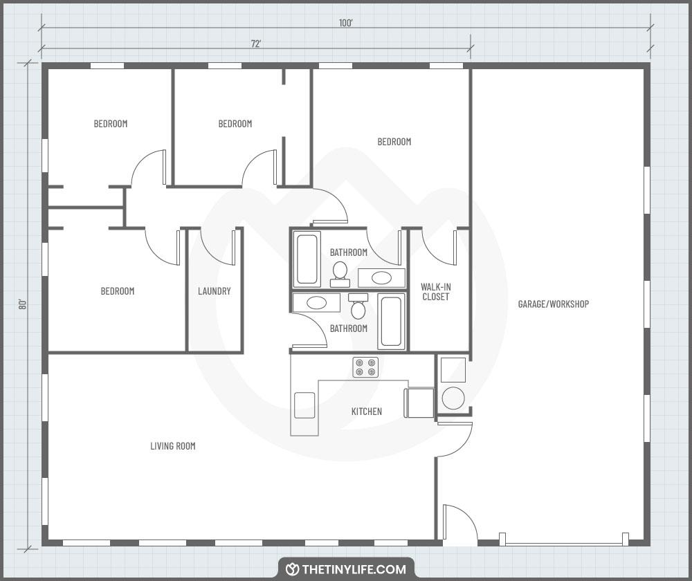barndominium floorplan