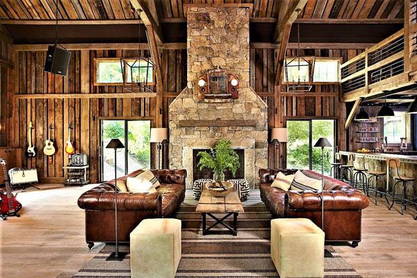 beautiful barndominium interior